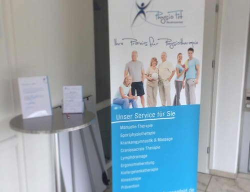 Roll-Up Banner für Physiofit Neudrossenfeld